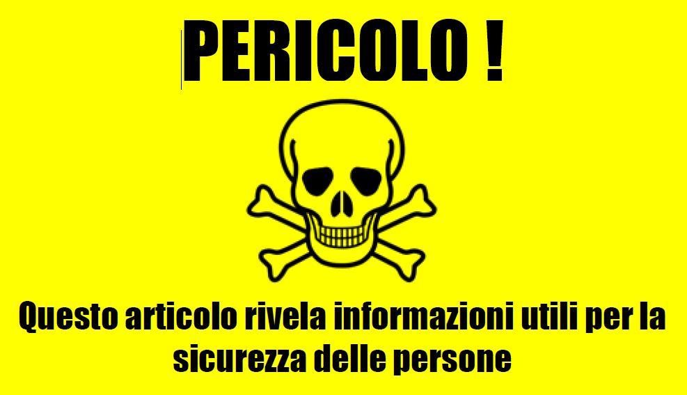 Pericolo - informazioni utili
